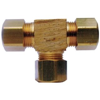 JMF 5/8 in. x 5/8 in. x 5/8 in.  Yellow Brass Bulk 400 PSI    Brass Compression Fittings