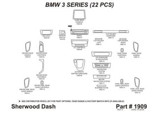 2006 BMW 3 Series Wood Dash Kits   Sherwood Innovations 1909 CF   Sherwood Innovations Dash Kits
