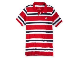 Aeropostale Mens A87 Striped Rugby Polo Shirt 571 XS
