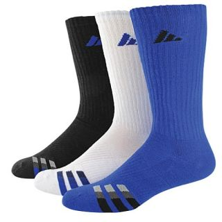 adidas 3 Stripe 3 Pack Crew Socks   Mens   Training   Accessories   Bold Blue/White/Black