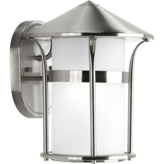Progress Lighting Welcome Collection Wall Mount Outdoor Stainless Steel Lantern DISCONTINUED P6004 135