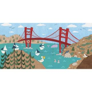 Oopsy Daisy Sunny San Francisco Canvas Art