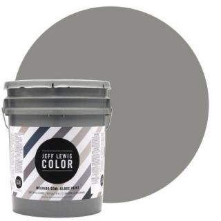 Jeff Lewis Color 5 gal. #JLC415 Gray Geese Semi Gloss Ultra Low VOC Interior Paint 505415