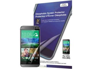 Green Onions Supply Crystal Oleophobic Screen Protector for HTC one M8 (2 pack) RT SPHTC1M807