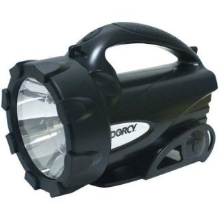Dorcy 41 4291 LED Flashlight Lantern with Ratcheting Stand, 95 Lumens, Black Finish