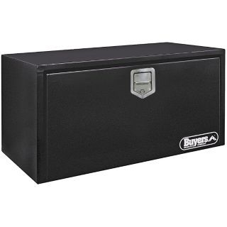 BUYERS PRODUCTS Steel Underbody Truck Box, Black, Single, 10.0 cu. ft.   Truck Boxes   6RHK9|1702103