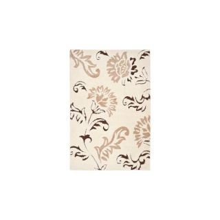 Safavieh Shag Cream and Dark Brown Rectangular Indoor Machine Made Area Rug (Common 8 x 10; Actual 96 in W x 120 in L x 0.75 ft Dia)