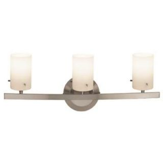 Access Lighting Classical 3 Light Matte Chrome Vanity Light with Opal Glass Shade 63813 47 MC/OPL