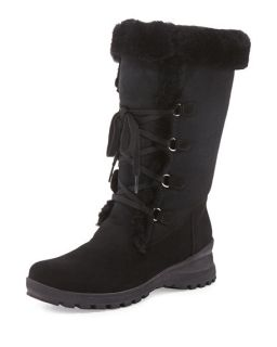 La Canadienne Annabella Shearling Fur Lined Boot, Black