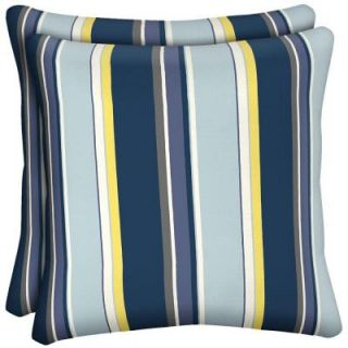 Hampton Bay Stella Stripe Outdoor Throw Pillow (2 Pack) DISCONTINUED AD23554B 9D2