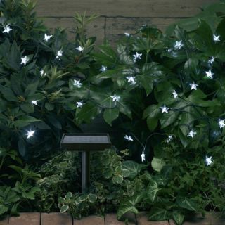 Smart Solar LED White Stars String Lights 30