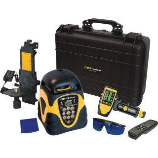 CST Berger Green Split Beam Horizontal and Vertical Self-Leveling Rotary Laser Level with Detector — Model# 57-ALHVGD