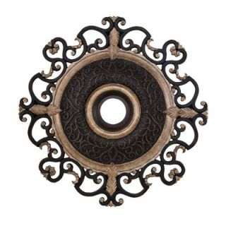 Minka Aire Napoli 38 Ceiling Medallion in Sterling Walnut