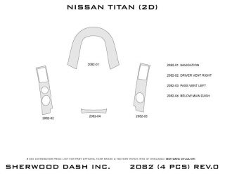 2008, 2009, 2010 Nissan Titan Wood Dash Kits   Sherwood Innovations 2082 CF   Sherwood Innovations Dash Kits