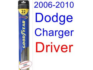 2006 2010 Dodge Charger Replacement Wiper Blade Set/Kit (Set of 2 Blades) (Goodyear Wiper Blades Hybrid) (2007,2008,2009)