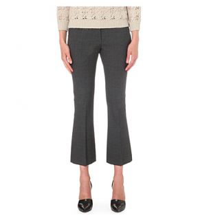 BRUNELLO CUCINELLI   Flared wool blend cropped trousers