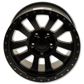 Pro Comp Alloy Wheels   Series 7036, 17x9 with 5 on 5 Bolt Pattern   Flat Black