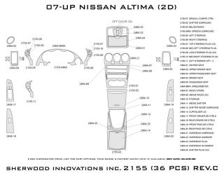 2007 2012 Nissan Altima Wood Dash Kits   Sherwood Innovations 2155 N50   Sherwood Innovations Dash Kits