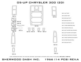 2005, 2006, 2007 Chrysler 300 Wood Dash Kits   Sherwood Innovations 1966 N50   Sherwood Innovations Dash Kits