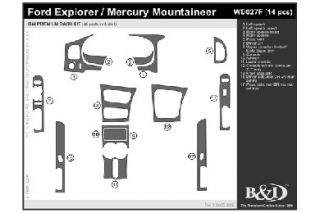 1995, 1996 Ford Explorer Wood Dash Kits   B&I WD027F DCF   B&I Dash Kits