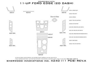 2011, 2012 Ford Edge Wood Dash Kits   Sherwood Innovations 4240 R   Sherwood Innovations Dash Kits