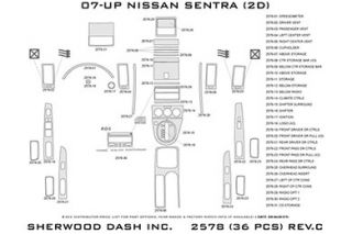 2007 2012 Nissan Sentra Wood Dash Kits   Sherwood Innovations 2578 R   Sherwood Innovations Dash Kits