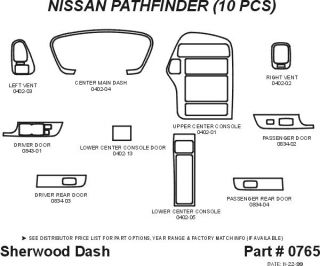 2000 Nissan Pathfinder Wood Dash Kits   Sherwood Innovations 0765 CF   Sherwood Innovations Dash Kits