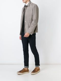 Brunello Cucinelli Buttoned Suede Jacket