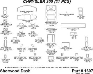 2005, 2006, 2007 Chrysler 300 Wood Dash Kits   Sherwood Innovations 1607 CF   Sherwood Innovations Dash Kits