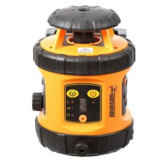 Johnson Self Leveling Rotary Laser Level with Detector 40 6516