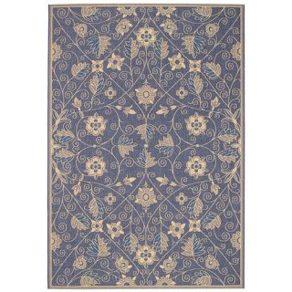 Elsinore Garden Maze Blue Indoor/Outdoor Area Rug
