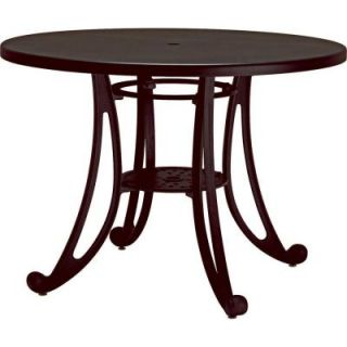 Tradewinds Terrace Textured Bronze 42 in. Round Commercial Patio Table HD C73H2AM TBR