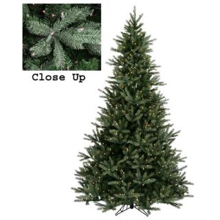 Vickerman 9Natural Frasier Fir Artificial Christmas Tree with Clear