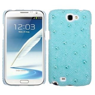 INSTEN Baby Blue/ Pearl Phone Case Cover for Samsung Galaxy Note II