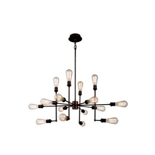 Elegant Lighting Ophelia Collection 1139 Pendant Lamp with Cocoa Brown