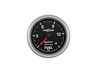 Auto Meter Sport Comp II Mechanical Fuel Pressure Gauge