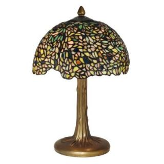 Radionic Hi Tech Tentelle 17.00 in. Bronze Verde Hand Rolled Art Glass Table Lamp DT_TL_TT10335_RHT