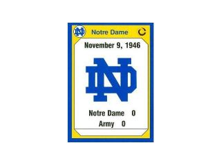 Autograph Warehouse 91308 1946 Army Football Card Notre Dame 1990 Collegiate Collection No. 179