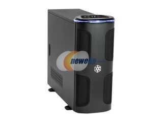 SilverStone KUBLAI Series KL03 B Black 2.5mm aluminum front door, 0.8mm SECC body ATX Full Tower Computer Case