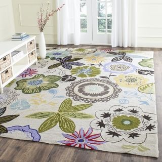 Safavieh Hand Hooked Indoor/ Outdoor Four Seasons Ivory/ Multi Rug (3
