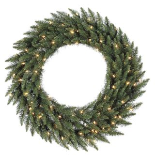 Vickerman Pre Lit 96 in Camdon Fir Artificial Christmas Wreath with 450 Count LED Lights