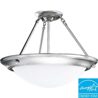 Progress Lighting Eclipse Collection Brushed Steel 3 light Semi flushmount DISCONTINUED P7328 13EBWB