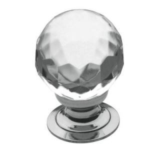 Baldwin 1 in. Faceted Crystal Polished Chrome Round Cabinet Knob 4317.260