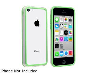 Insten Clear/ Green TPU Bumper compatible with Apple iPhone 5C 1458130