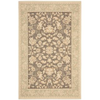 Safavieh Beach House Dark Brown/Green Area Rug