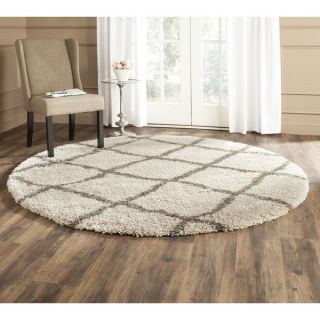 Safavieh Belize Shag Taupe/ Grey Rug (67 Round)   Shopping