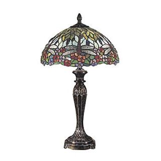 Dale Tiffany Floral 29 H Table Lamp with Bowl Shade