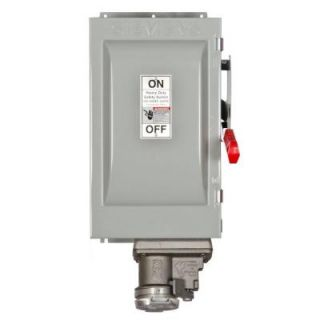Siemens Heavy Duty 60 Amp 600 Volt 3 Pole Type 12 Fusible Safety Switch with Receptacle HF362JCH