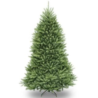 National Tree Unlit 7 1/2' Dunhill Fir Hinged Artificial Christmas Tree