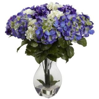 Nearly Natural Mixed Hydrangea with Vase 1368 BP
